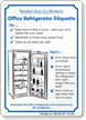 Office Refrigerator Etiquette Sign