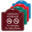 Oxygen Storage No Smoking ShowCase Sign