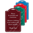 Please Be Prompt And Courteous ShowCase Sign