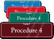 Procedure 4 ShowCase Wall Sign