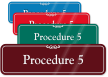 Procedure 5 ShowCase Wall Sign