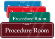 Procedure Room ShowCase Wall Sign