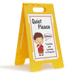 Quiet Please, Teaching Learning In Progress Floor Sign