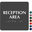Reception Area ADA TactileTouch™ Sign with Braille