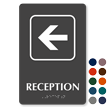 Reception Left Arrow TactileTouch™ Sign with Braille