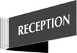 Reception Above Door Corridor Sign