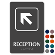 Reception Top Left Arrow TactileTouch™ Sign with Braille