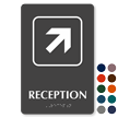 Reception Top Right Arrow TactileTouch™ Braille Sign