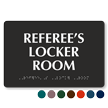 Referee's Locker Room TactileTouch Braille Sign