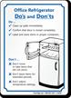 Office Refrigerator Sign
