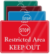 Restricted Area, Keep Out ShowCase Wall Sign