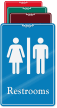 Restrooms Man Woman  Sign