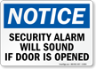 Notice Security Alarm Sound Sign