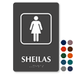 Sheilas TactileTouch Braille Australian Humorous Restroom Sign