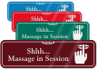 Shhh… Massage In Session ShowCase Wall Sign
