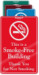 This Is Smoke Free Building ShowCase Wall Sign