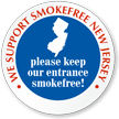 SmokeFree New Jersey Window Decal