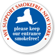 SmokeFree New York Window Decal