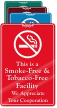 Smoke & Tobacco Free Facility ShowCase Wall Sign