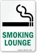 Smoking Lounge Sign