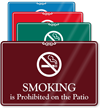 Smoking Is Prohibited On Patio Showcase Wall Sign