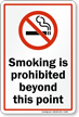 Smoking Is Prohibited Beyond This Point Graphic Sign