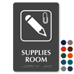 Supplies Room TactileTouch™ Sign with Braille