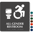 All-Gender Restroom Sign, New ISA, Toilet Symbol