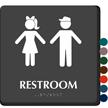 Unisex Restroom Braille Sign
