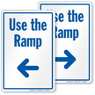 Use The Ramp Sign With Left Arrow