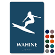 Wahine Braille Women Restroom TactileTouch Sign