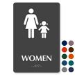 Women Braille Sign with Woman and Girl Symbol