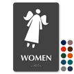 Women TactileTouch Braille Angel Symbol Sign