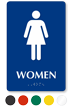 Women Pictogram Braille Restroom Sign