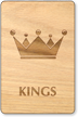 Kings Crown Wooden Restroom Sign