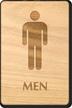Men Wooden Restroom Sign
