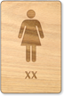 XX Woman Wooden Restroom Sign