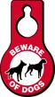 Beware Of Dogs Pear Shaped Hang Tag
