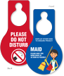 Do Not Disturb Pear Shaped Door Hang Tag