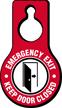 Emergency Exit Keep Door Closed Hang Tag