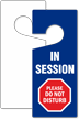 In Session Please Do Not Disturb Door Tag