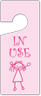 In Use Girl Graphic Door Tag