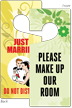 Make Up Our Room/Just Married 2-Sided Housekeeping Tag