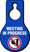 Meeting In Progress Door Hang Tag