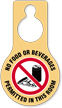 No Food Beverages Permitted Door Hang Tag