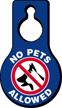 No Pets Allowed Door Hang Tag