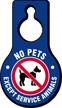 No Pets Except Service Animals Hang Tag