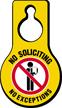 No Soliciting No Exceptions Door Hang Tag