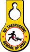 No Trespassing Beware Of Dogs Hang Tag