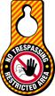 No Trespassing Restricted Area Door Hang Tag